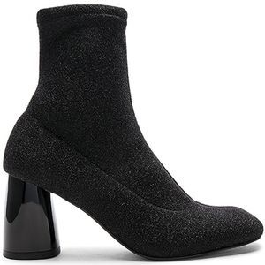 Free People Black Sparkle Sock Booties size 8
